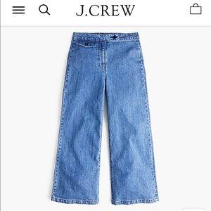 NWT J. Crew Point Sur Wide Leg Jeans